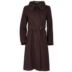 Burberry Brown Wool Coat Sz 4