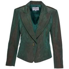 1980s GIANFRANCO FERRE' Green Iridescent Blazer Jacket