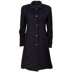10/24 Donna Karan Black Coat
