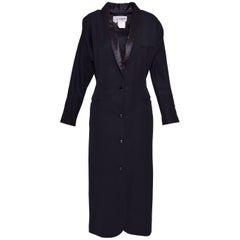1980s JEAN PAUL GAULTIER POUR GIBO Black wool Coat