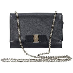Black Salvatore Ferragamo Vara Flap Bag
