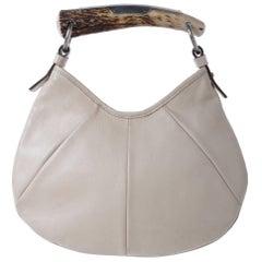 YSL YVES SAINT LAURENT Leather Mombasa Horn Bag