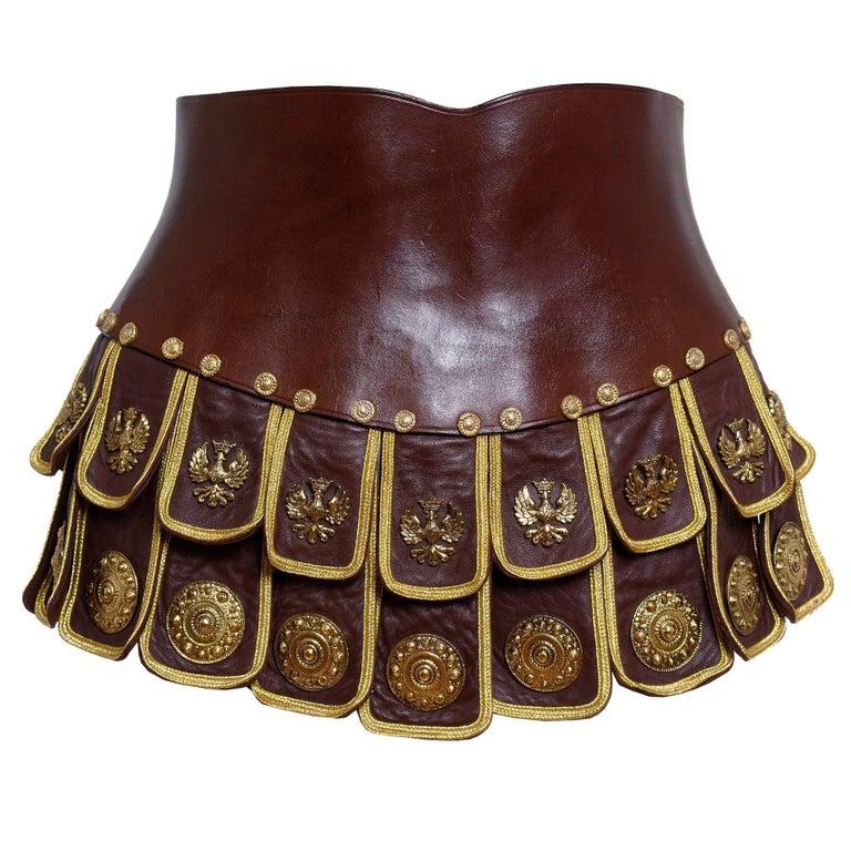 1989 Moschino  'Roman Centurion Soldier'  Belt