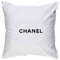 Chanel Cashmere and Wool Couch Chair Decorative Throw Pillow