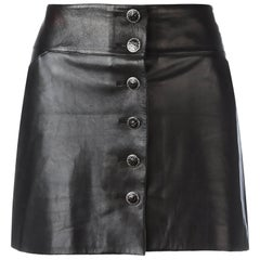 Chanel Leather Mini Skirt