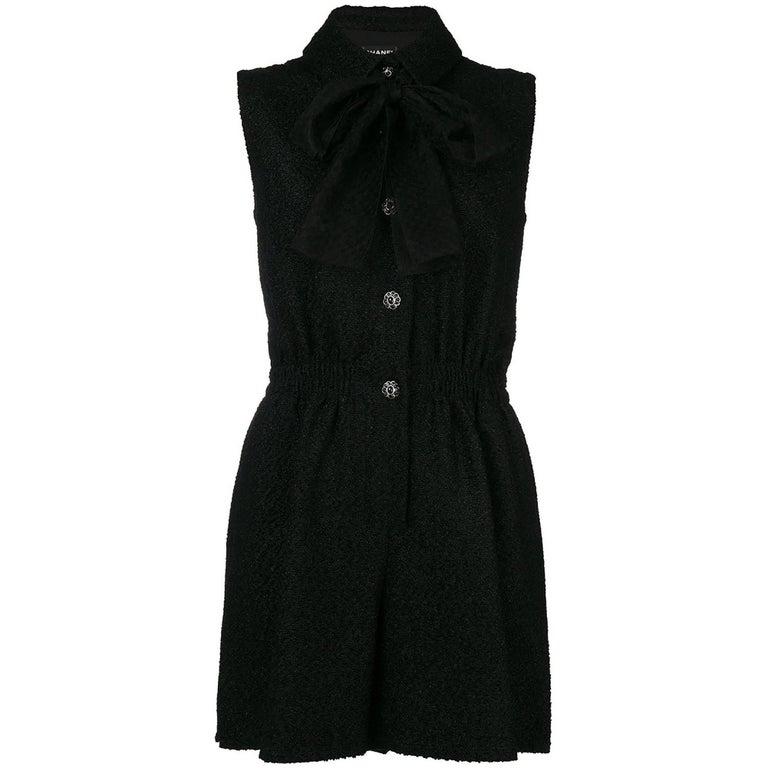 Chanel Black Tweed Dress