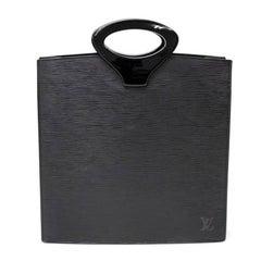 Louis Vuitton Ombre Black Epi Leather Tote Handbag
