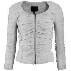 Isabel Marant Grey Crepe Ruched Jacket Sz Small