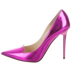 NEWFOUND LUXURY - Jimmy Choo New Bright Pink Leather Evening High Heels Pumps