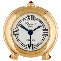 Chopard Gold Tone Men's Decor Travel Table Desk Alarm Clock