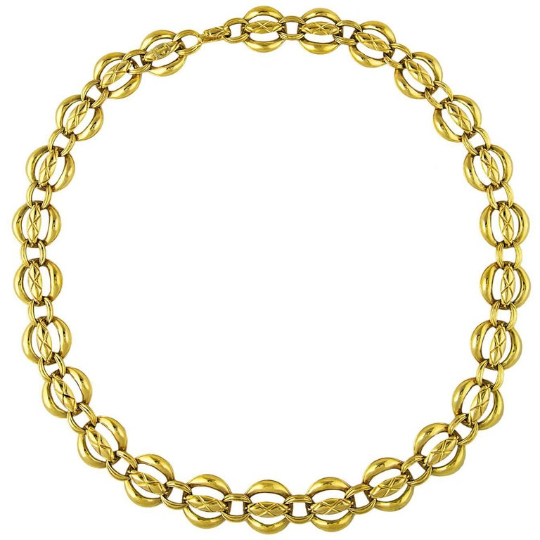 Chanel Quilted Gold Plated Chain Belt 1980's  1