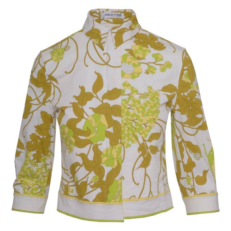 1980s Emilio Pucci Floral Print Jacket