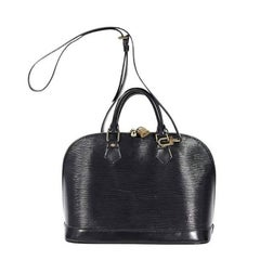 Black Louis Vuitton Epi Alma Satchel
