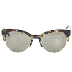Stella McCartney Tortoise Half-Rim Sunglasses