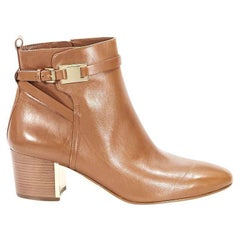 Tan Michael Kors Leather Ankle Boots