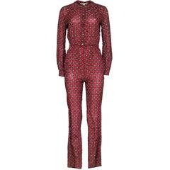 Michael Kors Rust Silk Jumpsuit Sz 2