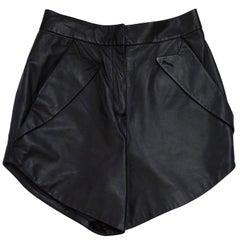 Alexander Wang Black Leather Shorts Sz 4