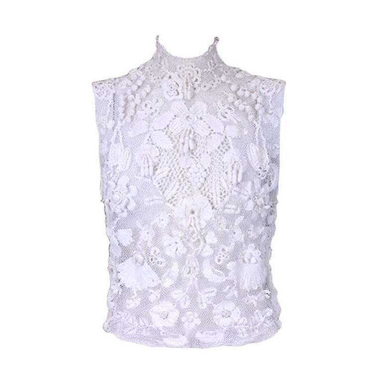 Turn of the Century Irish Crochet Blouse 1