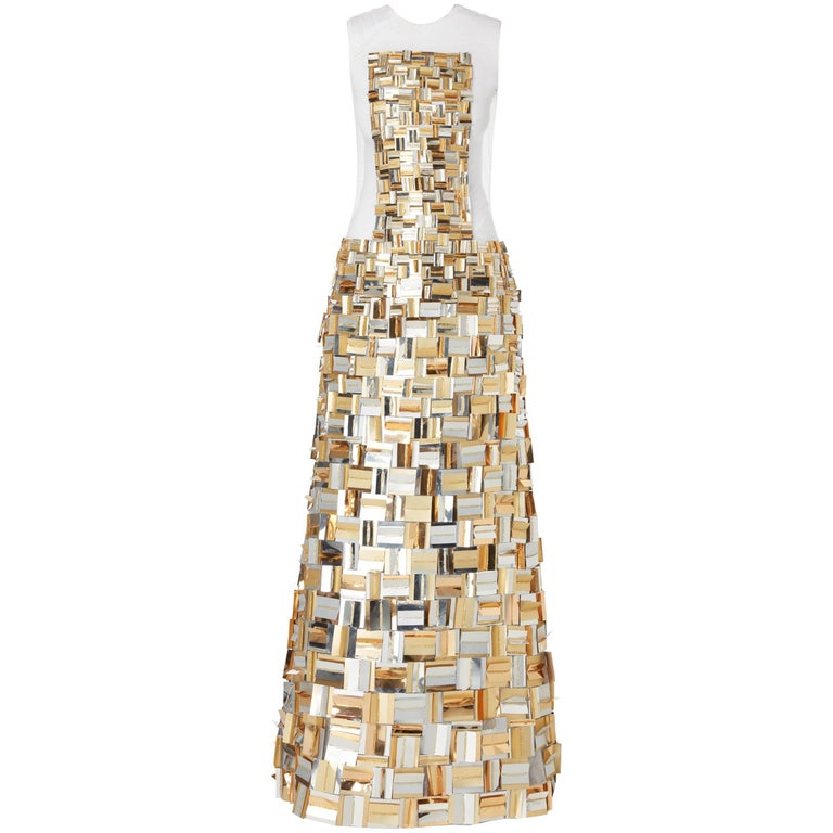 Nicholas Oakwell, haute couture gold sequin gown, Spring/Summer 2012