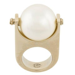 Chanel Over-sized Pearl Ring