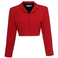 1990s Yves Saint Laurent Red Bolero Jacket