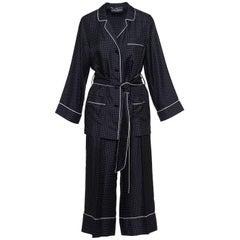 Dolce & Gabbana Black and White Polka Dot Pajama Set