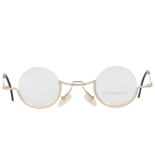 7dc7f58f1038 TIFFANY and Co. VINTAGE RARE Round Eyeglasses T64 23K Gold 37 11 at 1stdibs