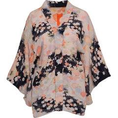 1940s Vintage Spring Print Yukata Kimono