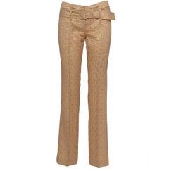 Prada Gold Jacquard Pants