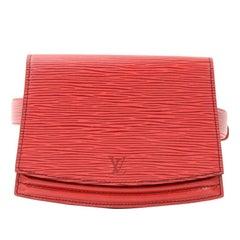 Vintage Louis Vuitton Ceinture Tilsitt Red Epi Leather Waist Pochette Size 110/4