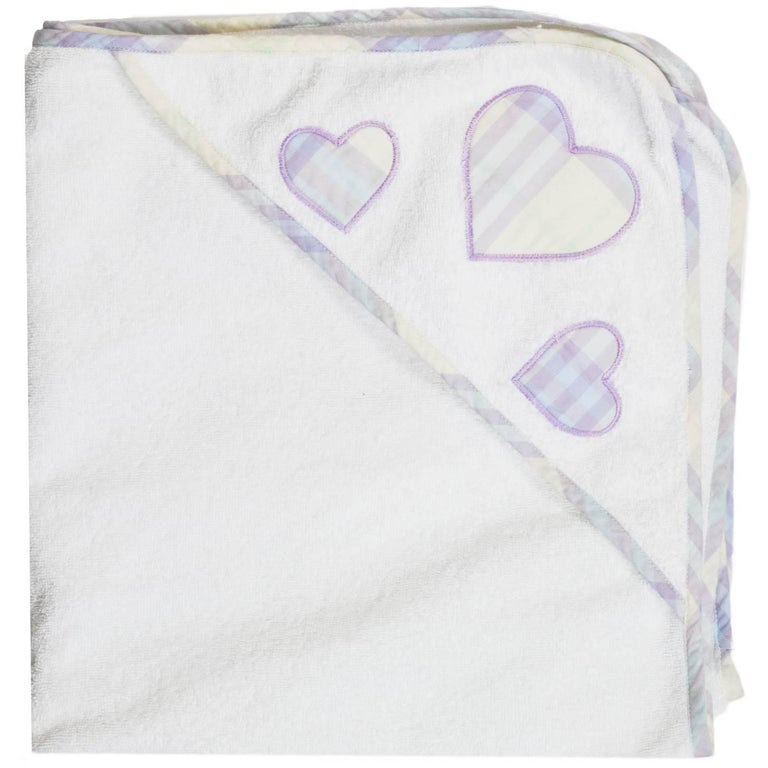 Burberry Purple Plaid Infant Towel Set