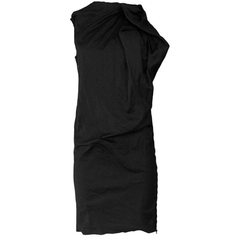 Lanvin Black Ruched Dress Size FR36