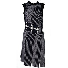 3.1 Phillip Lim Black and White Wool Dress Size S