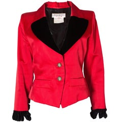 Yves Saint Laurent Rive Gauche Red Vintage Jacket