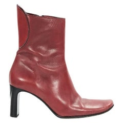 Red Costume National Leather Boots