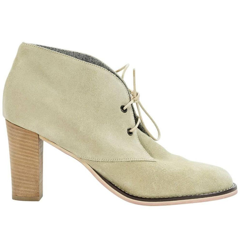 Tan Brunello Cucinelli Suede Ankle Boots
