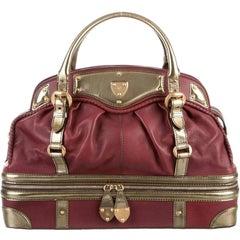 Alexander McQueen Leather Top Handle Carryall Duffle Weekend Travel Tote Bag