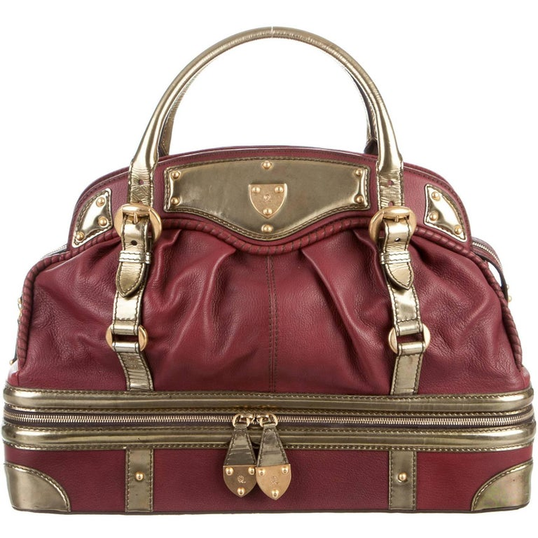 Alexander McQueen Leather Top Handle Carryall Duffle Weekend Travel Tote Bag