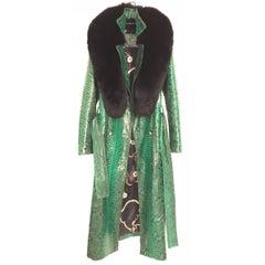 Ana Switzerland Green Python long coat