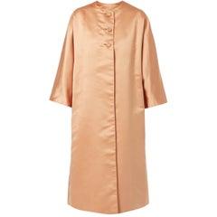 George Carmel Satin Peach Coat, circa 1962