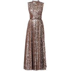Great Unknown brown lurex maxi dress