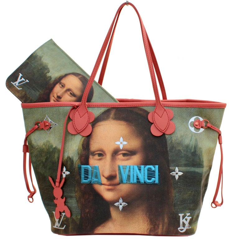 New Louis Vuitton x Jeff Koons Masters Neverfull MM Tote Monalisa Limited Ed
