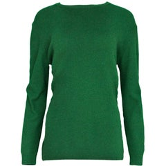 11/16 Marni Green Cashmere with Zipper Detail Sz IT48
