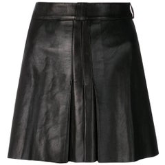 Jean Claude Jitrois Leather Black Skirt
