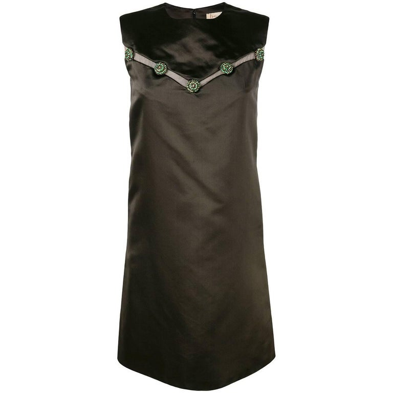 1960's Christian Dior Brown Haute Couture Dress
