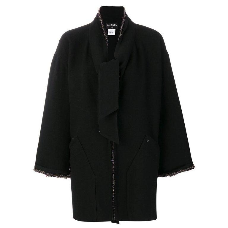 Chanel Beaded Black Coat