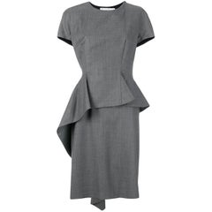 Christian Dior Grey Structured Dress