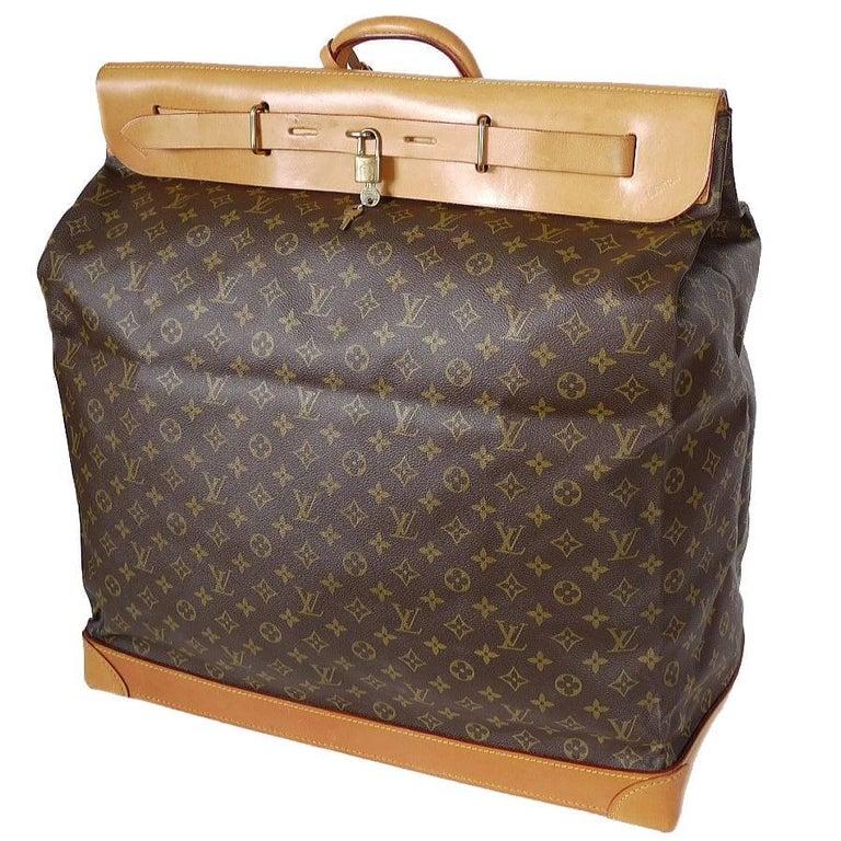 Louis Vuitton Monogram Steamer Bag 55 Travel Bag Rare