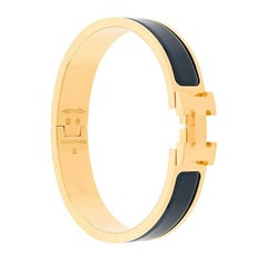 Hermes Blue Clic H Bracelet PM