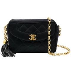 Chanel Black Satin Camera Bag